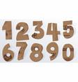 cardboard numbers vector image vector image