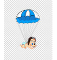 cartoon clip art with cute baby in pilot hat with vector image vector image