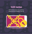 chain padlock smartphone data protection access vector image vector image