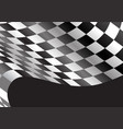 checkered flag flying black design race sport vector image vector image