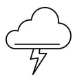 cloud and thunderstorm thin line icon lightning vector image