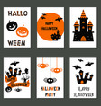 collection of cute halloween cards collection of vector image vector image