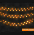 color garland festive decorations glowing vector image vector image