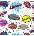 comic speech pop art bubbles and splashes vector image vector image