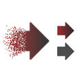 decomposed pixelated halftone arrow right icon vector image vector image