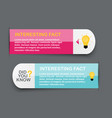 did you know interesting fact label sticker set vector image vector image