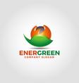 energy green 3d logo template vector image vector image