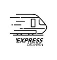 express delivery icon concept train speed icon vector image vector image
