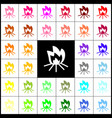 fire sign felt-pen 33 colorful icons at vector image vector image