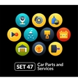 Flat icons set 47 - car parts and services vector image