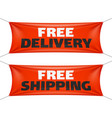 free delivery and free shipping banners vector image vector image