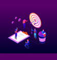 goal achievement - modern colorful isometric vector image vector image