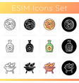 gourd recipes icons set vector image
