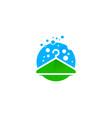 green laundry logo icon design vector image