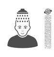 Head Shower Icon With Bonus vector image vector image