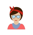 Hipster girl character vector image