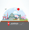 janpan infographic travel place and landmark vector image