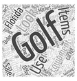 Junior Used Golf Course Equipment Florida Word vector image vector image