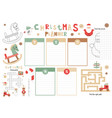 kids christmas planner template vector image vector image
