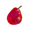 Low poly pear icon red vector image vector image