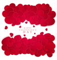 Many red hearts isolated on white background vector image vector image