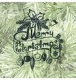 Merry Christmas Christmas frame on spruce vector image