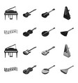 musical instrument blackmonochrome icons in set vector image vector image