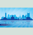nashville city skyline silhouette background vector image vector image