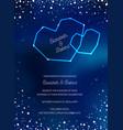 night sky trendy wedding invitation card vector image vector image
