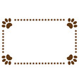 paws animals footprints decorative frame vector image
