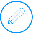 pencil line icon vector image vector image