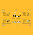 pest analysis isometric web banner template vector image vector image