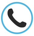 Phone Receiver Flat Rounded Icon vector image
