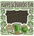 poster for saint patricks day vector image