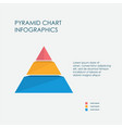 pyramid chart infographics elements 3d vector image vector image