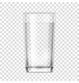 realistic glass cup transparent glassware vector image