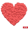 Red Valentines day heart vector image vector image