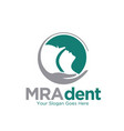 respiratory tract and dent care logo designs vector image