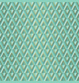 seamless green volume 3d background geometric vector image vector image