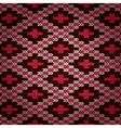 Seamless Red Knitted Pattern vector image vector image