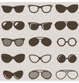 Set of brown retro sunglasses icons vector image vector image