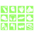 set of icons personal protection equipment vector image vector image