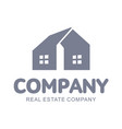 set of real estate company logo templates for vector image vector image