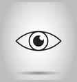 simple eye icon on isolated background business vector image