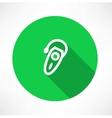 Single hearing aid icon vector image