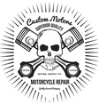 Skull and Pistons t-shirt graphic vector image vector image
