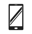 smartphone bold black silhouette icon isolated vector image vector image