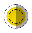 sticker yellow circular shape traffic sign icon vector image vector image