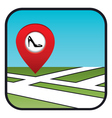 Street map icon with the pointer shoe shop vector image vector image