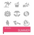 Summer icon set vector image vector image